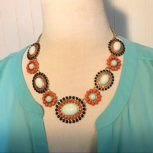 Enamel Riveted Circular Button Candy Necklace